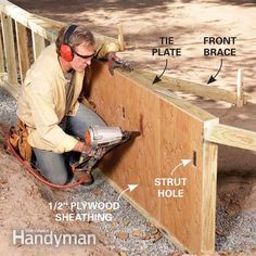 How to Build a Retaining Wall (pressure treated wood)