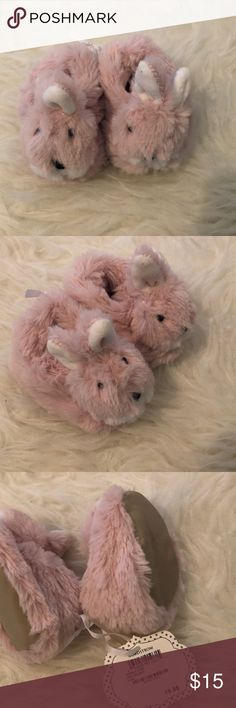 Furry Pink Bunny slippers Super adorable also brand new slippers / super cozy on the inside Shoes Slippers