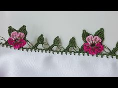 This Pin was discovered by fir Lace Embroidery, Embroidery Patterns, Crochet Patterns, Crochet Flower Tutorial, Crochet Flowers, Crochet Stitches, Knit Crochet, Creative Embroidery, Knitted Shawls