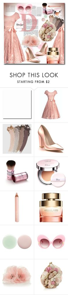 """""""Rosegal Contest"""" by pesanjsp ❤ liked on Polyvore featuring Gucci, Shoes of Prey, Christian Dior, Trish McEvoy, Michael Kors, Nails Inc., Monsoon and vintage"""