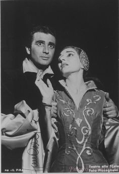Callas in Il Pirata at La Scala with Corelli