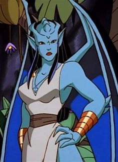 Turquesa is the fourth member of the South American gargoyle clan. Gargoyles Cartoon, Disney Gargoyles, Fantasy Characters, Cartoon Characters, Old Disney Tv Shows, Legendary Creature, Monster Girl, Manga, Fantasy Art