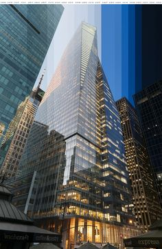 New York Sliced - Timed Photos of NY Architecture by Richard Silver, via Behance. You can see the change of light from daylight to night time in the single image.