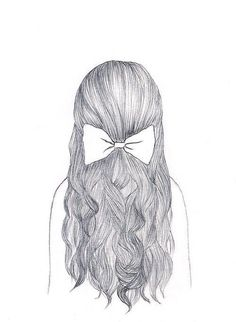 Hair drawing, art drawings, drawing drawing, how to draw hair, hair l Easy Pencil Drawings, Pretty Drawings, Amazing Drawings, Beautiful Drawings, Easy Hair Drawings, Cute Drawings Of Girls, Cool Drawings Tumblr, Cute Easy Drawings, Sad Drawings