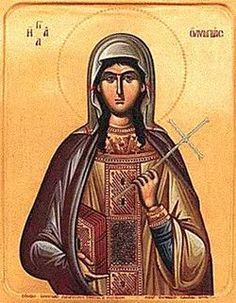 St. Olympias -- stood by her friend, St. John Chrysostom, even when she became collateral damage and lost her convent.