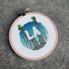 "Los Angeles - 4"" Cross Stitch"