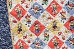 Retro Cowboy Quilt Baby Blanket Western by SunnysideDesigns2, $139.00