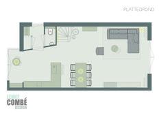 Plattegrond interieurontwerp   Maarssen, Utrecht Utrecht, Floor Plans, Interior Design, Nest Design, Home Interior Design, Interior Designing, Home Decor, Interiors, Floor Plan Drawing