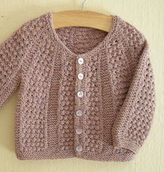 Childs sweater - love the color and the bobble stitch all over.