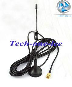 5 dbi 433 Mhz Antenna GSM Connettore SMA Maschio Dritto con base Magnetica per Ham Mobile Phone Signal Booster Wireless ripetitore