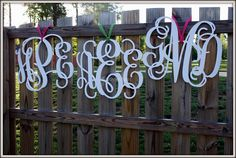 Wooden Monogram - Southern Nest - 1/2inch thick - Painted : Personalized Gifts - Preppy Monogrammed Gifts @ 2PreppyGirls.com