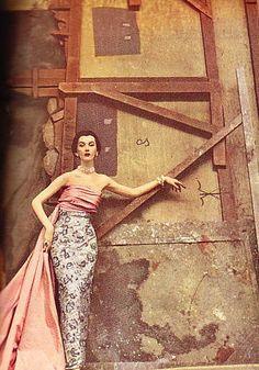 Dovima by Richard Avedon, Harper's Bazaar, Nov. 1950