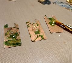 a fast way to decoupage, using resin as a glaze