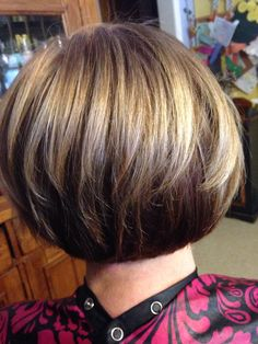 Back of stacked bob hair