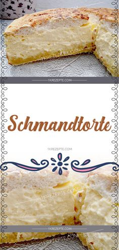 Schmandtorte Ingredients: 200 g flour 65 g butter 1 egg (s) 75 g sugar pack baking powder 500 g quark 1 cup sour cream 150 g sugar 1 pack vanilla sugar 3 egg (s), separately 1 pack pudding Easy Cheesecake Recipes, Easy Cookie Recipes, Dessert Recipes, Simple Recipes, Dessert Blog, Drink Recipes, Healthy Recipes, Cupcakes, Cake Mix Cookies
