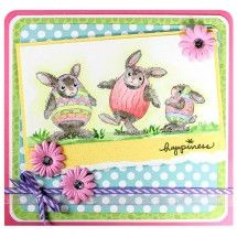 stampendous stamp HappyHoppers® Easter Hares by Amy Hurley-Purdie