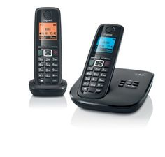 Gigaset A510A-2B DECT_6.0 2-Handset Cordless Telephone (Black) by Gigaset. $58.98. New from Gigaset the A510-2B is a high quality, feature rich cordless phone system that includes 2 DECT cordless handsets with HSP (High Sound Performance).  This phone system also includes hands-free speakerphone, volume and ringer control, 20 selectable ringer melodies, and stores up to 150 name and number phonebook entries on each handset.  This installation is simple plug and play and ...