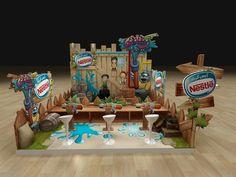 Kimo Rachach Booth (Nestlé) par Hossam Moustafa, via Behance