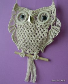 Image detail for -owl macrame wall hanger | ハンドメイド、手作り品の販売 ...