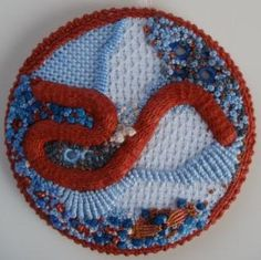 A few weeks ago I saw Janet's Casalguidi . It reminded me of the first raised stem stitch band I made for the Stitch Explorer challenge. It...