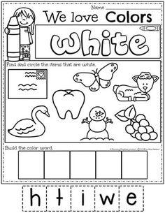 Gray Worksheet Preschool & Crafts Preschool colors