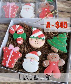 Elf on leaf shape Christmas Donuts, Christmas Cookies Gift, Christmas Biscuits, Christmas Food Gifts, Christmas Sweets, Noel Christmas, Christmas Goodies, Christmas Baking, Cute Cookies