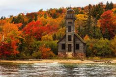 Old Lighthouse In Upper Peninsula | Grand Island | Lake Superior | Michigan | Photo By Vansh Visuals