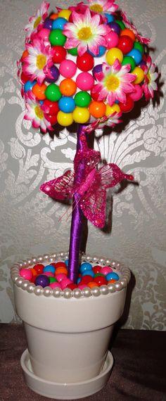 Floral arrangement - Candy and floral Centerpiece