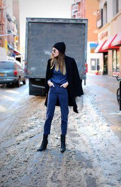 Ash black leather boots