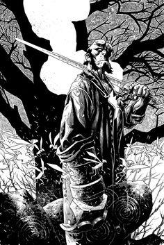 Hellboy commission (Duncan Fegredo) by klarens
