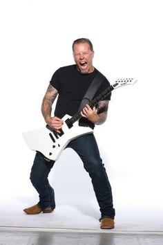 James Hetfield. His new look...it's growing on me! Lol!!