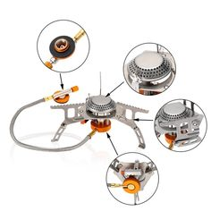 Backpacking Camping Stove OOBest Portable Foldable Mini Outdoor Gas Burner with Piezo Ignition * Check out this great product. Outdoor Cooking Stove, Outdoor Stove, Camping Gas, Camping Cooking, Outdoor Camping, Camping Kitchen, Portable Gas Stove, Mini Stove, Save Fuel