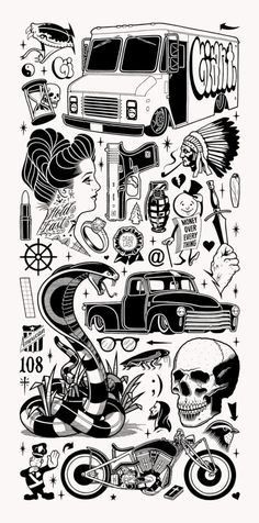 Edition of 100 x x Screen-print on French cream paper Signed and numbered in pencil Tattoos 3d, Black Tattoos, Body Art Tattoos, Small Tattoos, Sleeve Tattoos, Tattoos For Guys, Black Work Tattoo, Mike Giant, Tattoo Sketches