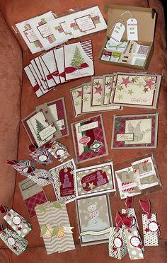 www.Stempelkreationen.de: gebastelte Weihnachtskarten