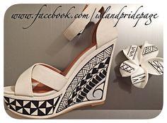 Handpainted Polynesian Shoes and Handpainted Frangipani :)