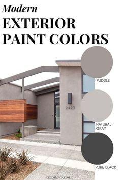 Modern House Colors, Modern Paint Colors, Paint Colors For Home, Modern House Design, Modern Exterior House Designs, Exterior Paint Colors For House, Exterior Colors, House Paint Color Combination, Modern Farmhouse Exterior