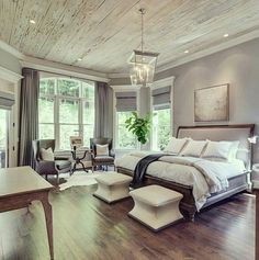 63 Gorgeous Farmhouse Master Bedroom Design Ideas Farmhouse is in, and for good reason. Bring it on your master bedroom design ideas is a great ideas. Farmhouse Master Bedroom, Master Bedroom Design, Dream Bedroom, Home Decor Bedroom, Modern Bedroom, Bedroom Country, Bedroom Furniture, Bedroom Designs, Fancy Bedroom