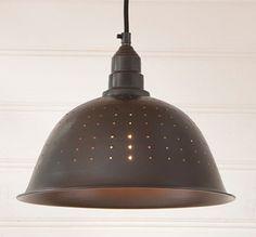 COUNTRY COLANDER PENDANT LAMP in Smokey Black Finish