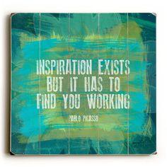 'Inspiration Exists' by Lisa Weedn Textual Art | Wayfair