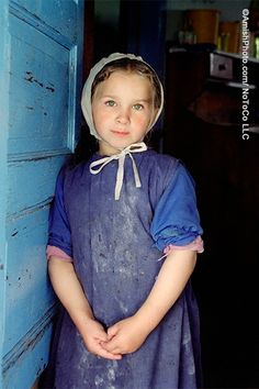 """""""Flour Girl""""  Nancy takes a break from helping her mother with the baking.  [photo by Bill Coleman; 1925-2014]"""