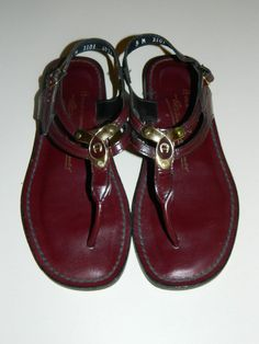 Etienne Aigner Oxblood Preppy Sandals I had these forever!!! Etienne Aigner 01f40540159b3