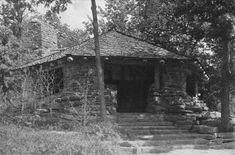 Mohawk Park picnic hut, Tulsa, OK.   National Park structures.