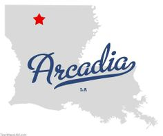 arcadia la | Map of Arcadia Louisiana LA