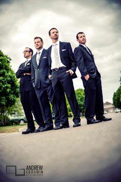 Idea foto boda: los hombres del novio