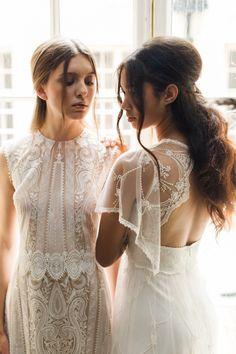 Claire Pettibone's 2017 wedding dresses: http://www.stylemepretty.com/2016/10/21/claire-pettibone-2017-wedding-dresses/ Photography: Judy Pak - http://judypak.com/