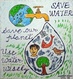 how to save water for kids posters Water Kids, Water Art, Save Water Poster Drawing, Save Water Save Life, Importance Of Water, Drawing Competition, Earth Day Activities, World Water Day, Kids Poster