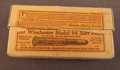 Rare Winchester Ammunition .30 WCF Soft Point Ammo