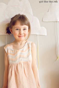 sew: ethereal dress in double gauze and voile    girl like the sea