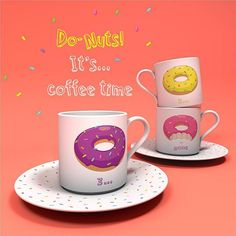 Per godersi un caffè dolce come una ciambella 🍩 Un set di Tazzine di Caffè con Donut 🍩 #puckatordonut