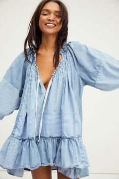 Free People Keegan Tunic Couture Outfits, Boho Outfits, New Outfits, Lace Tops, Free People Dress, Refashion, Spring Summer Fashion, Casual Dresses, Clothes For Women